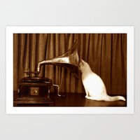 Her Mistresses Voice Art Print