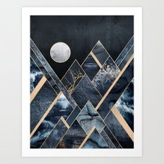 Stormy Mountains Art Print