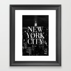 New York City Vogue Typo… Framed Art Print
