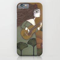 iPhone & iPod Case featuring The Guitar Player by Judith Clay