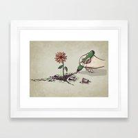 Nature Pen Framed Art Print