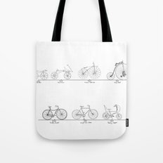 Evolution of Bicycles Tote Bag