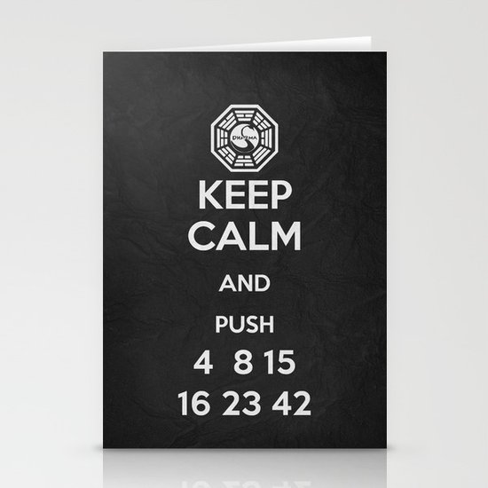 Keep Calm - Lost Poster Stationery Card