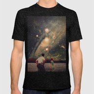 Light Explosions In Our … Mens Fitted Tee Tri-Black SMALL