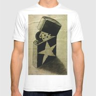 Zippo Mens Fitted Tee White SMALL