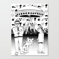 UFOs For Africa Canvas Print