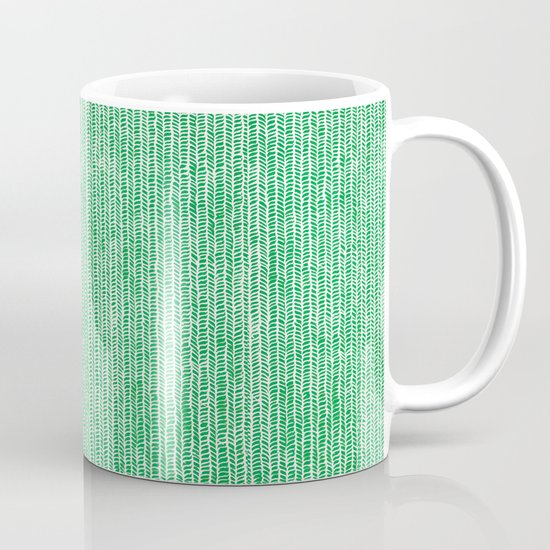 Stockinette Green Mug