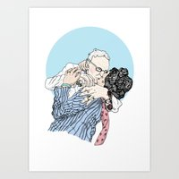 MAKING OUT NO4 Art Print