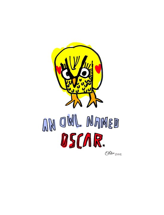 AN OWL NAMED OSCAR Art Print