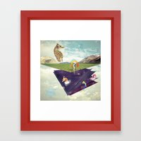 Quantic Jump Framed Art Print