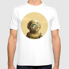 Wasteland SMALL White Mens Fitted Tee