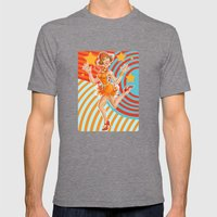 Flapper Mens Fitted Tee Tri-Grey SMALL