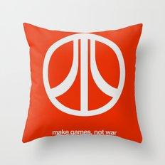 Make Games, Not War Throw Pillow