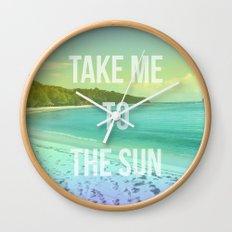 Take Me to the Sun Wall Clock