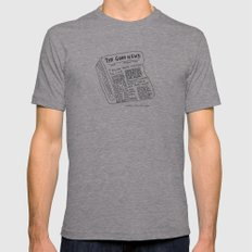 Good News! Mens Fitted Tee Athletic Grey SMALL