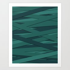 Teal in Love Art Print