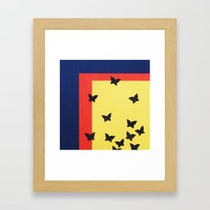 Butterfly Squares Papercut Framed Art Print