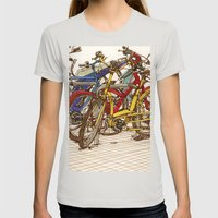 Bike Mess Womens Fitted Tee Silver SMALL