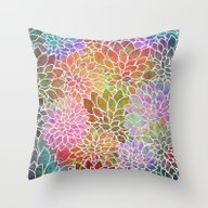 Floral Abstract 6 Throw Pillow