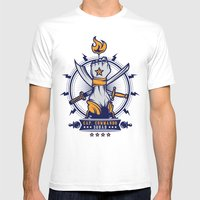 CAP. COMMANDO TEAM Mens Fitted Tee White SMALL