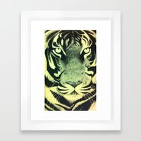 Be a Tiger (Yellow) Framed Art Print
