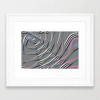 silver ladder Framed Art Print