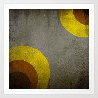 Abstract Retro Circle Art Print