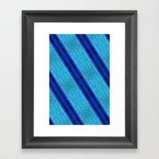 Blue Skin Framed Art Print