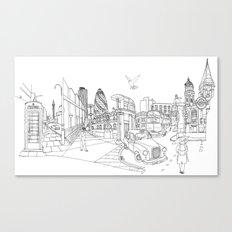 London! Original landscape version Canvas Print