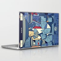 back to the future Laptop & iPad Skins featuring Back to the Future by Ale Giorgini