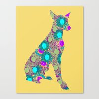 Flower Dog Canvas Print