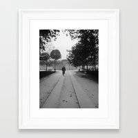 Bicyclist Framed Art Print