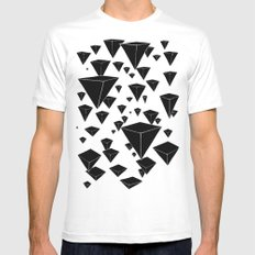 snowing pyramids II SMALL White Mens Fitted Tee
