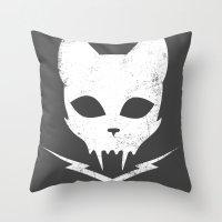 Stunt Kitty Throw Pillow