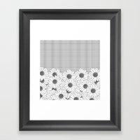 Daisy Grid Framed Art Print
