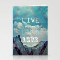 LiveDreamLaughLove Stationery Cards