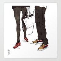 Mismatched, But Not Incompatible by Kat Mills Art Print