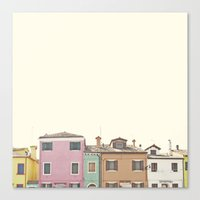 Colored Houses Canvas Print