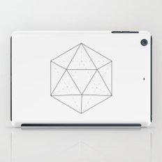 Black & white Icosahedron iPad Case