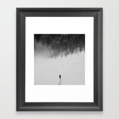 Silent Walk - B&W version Framed Art Print