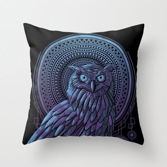 Owl Nouveau II Throw Pillow
