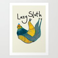 Lazy Sloth Art Print