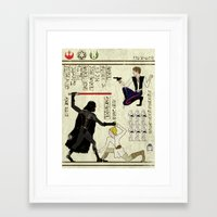 hero-glyphics: The Force Framed Art Print
