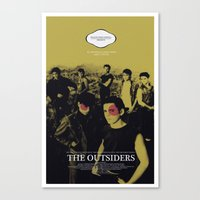 The Outsiders Movie Post… Canvas Print