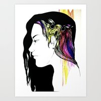 Owlong Art Print