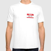 Hello My Name Is Mens Fitted Tee White SMALL