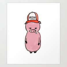 This Little Piggy Wears a Hat Art Print