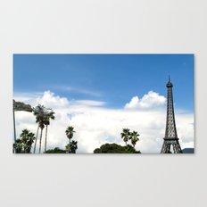 Age of Dinosaurs vs. La Tour Eiffel Canvas Print