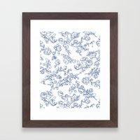 Toile Roses Framed Art Print