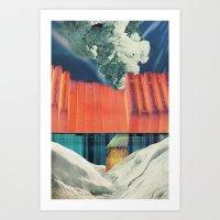 The Melting Wall (1) Art Print